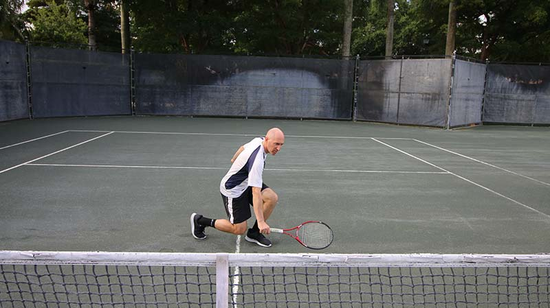A half volley backhand.