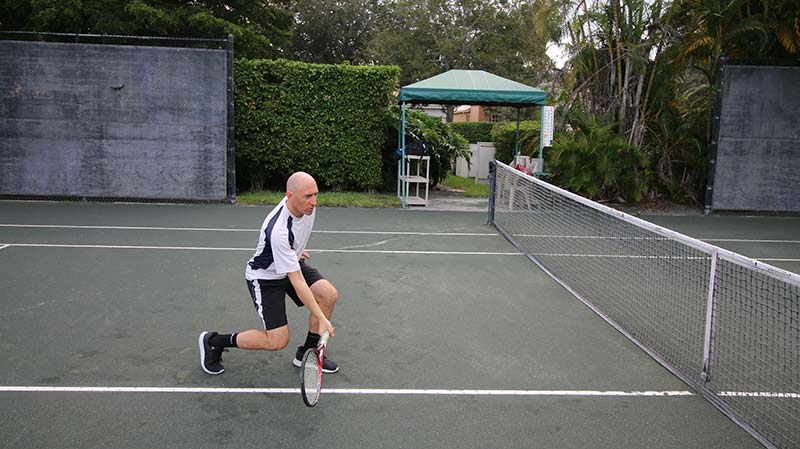 A half volley forehand.