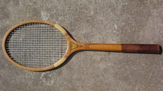 Classic tennis racket.