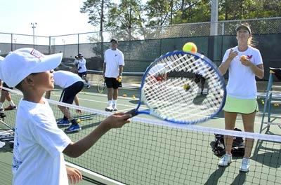 Tennis camp.