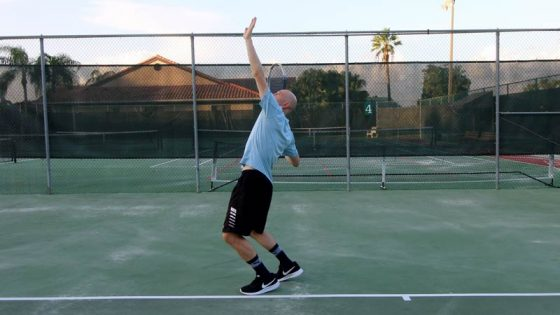 Body rotation for the serve (power position).