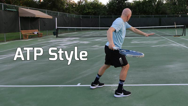ATP style forehand.