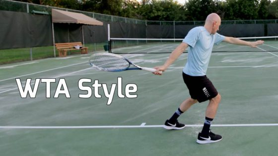 WTA style forehand.