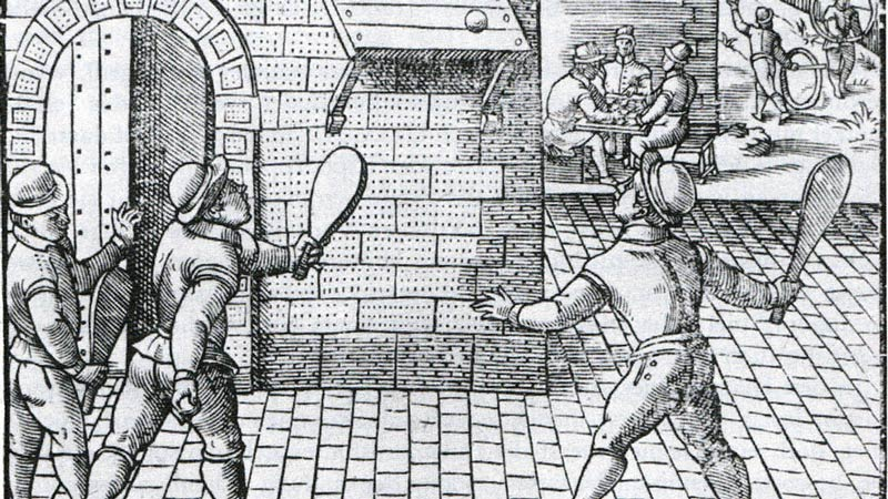 Tennis in France in the 16th century.
