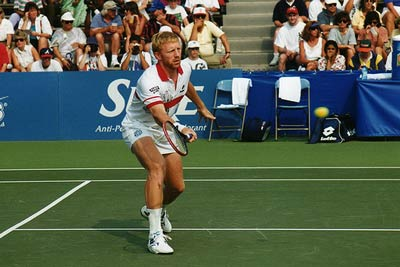 Boris Becker drop shot