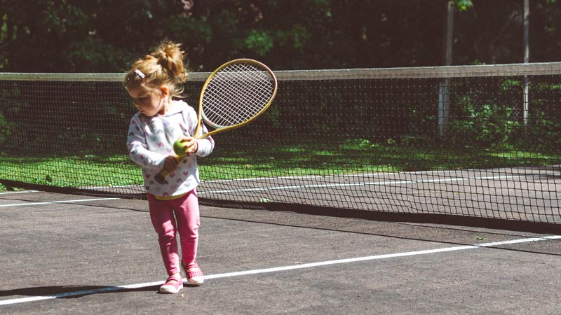 Tennis is a good sport for kids.