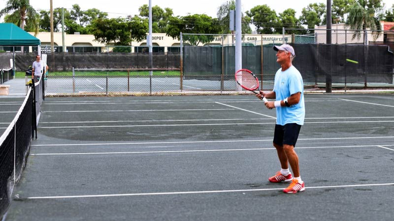 Tennis is a good sport for seniors.