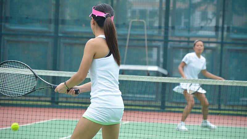 Tennis is a social sport.